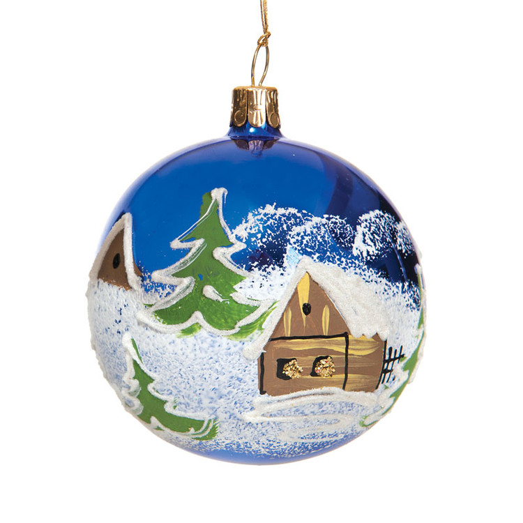 Blue Winter Cabin Series Glass
