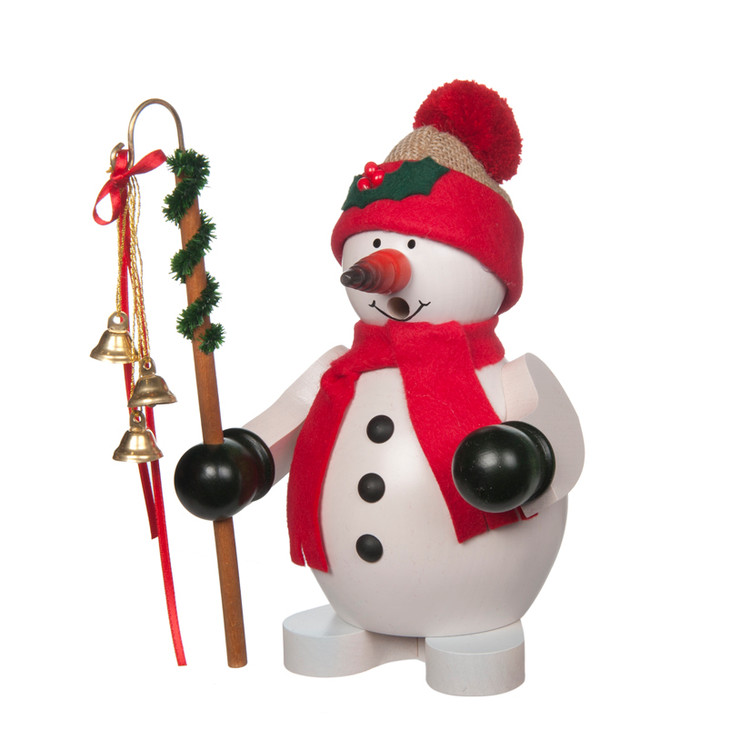 Snowman with Red Scarf and Cap