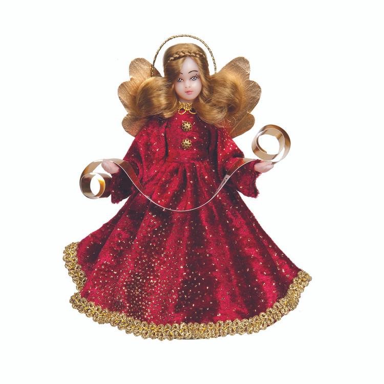 Dark Red Velvet Choir Angel