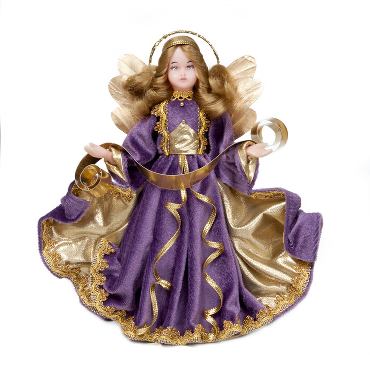 Angel in Purple with Gold Accents