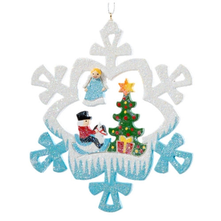 Gathered around the Tree Wood Frosty Ornament