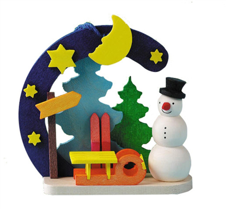 Snowman with Sled Aviary