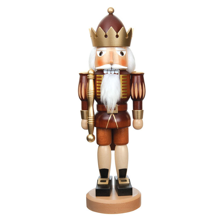 Nutcracker king naturally stained with gold accent