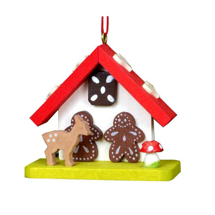 Gingerbread House with Deer