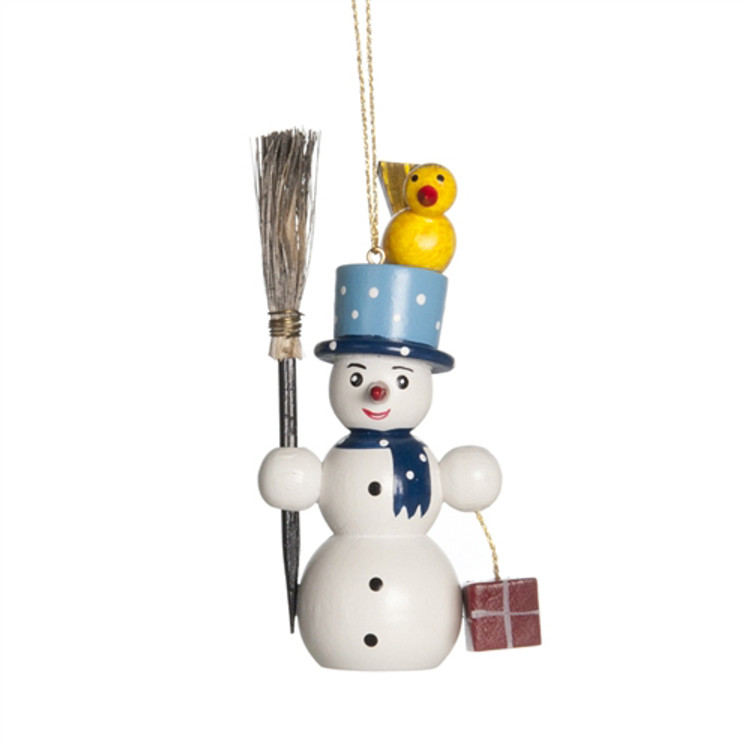 Winter Snowman with Broom