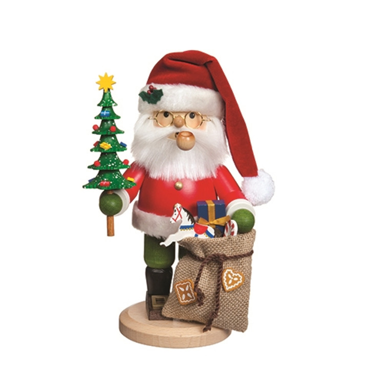 Santa with Tree and Gifts
