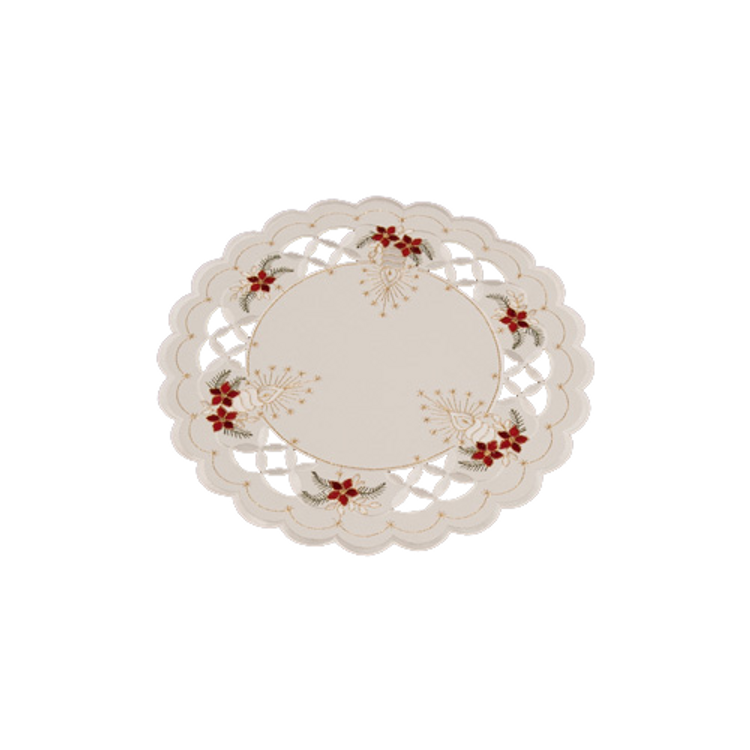 """Poinsettia with Cut-Outs - Round 12"""""""