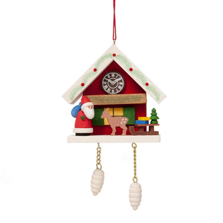 Cuckoo Clock with Santa and Deer