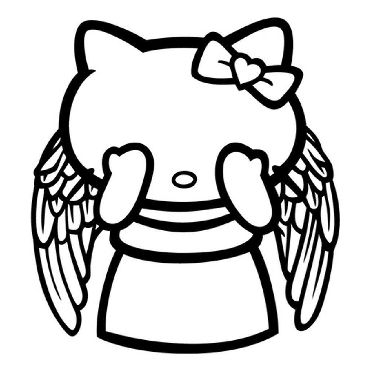 Hello Kitty Weeping Angel Vinyl Decal Div High Glossy Premium 3 Mill