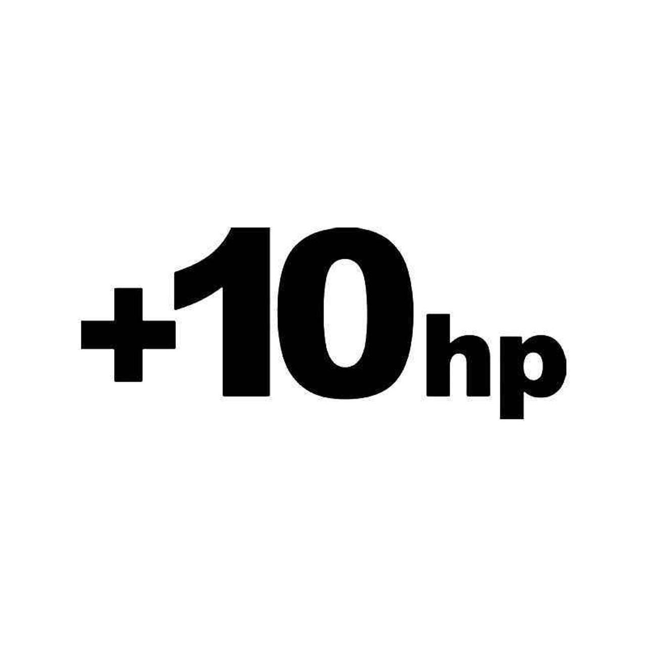 10hp Horsepower Jdm Japanese Vinyl Sticker