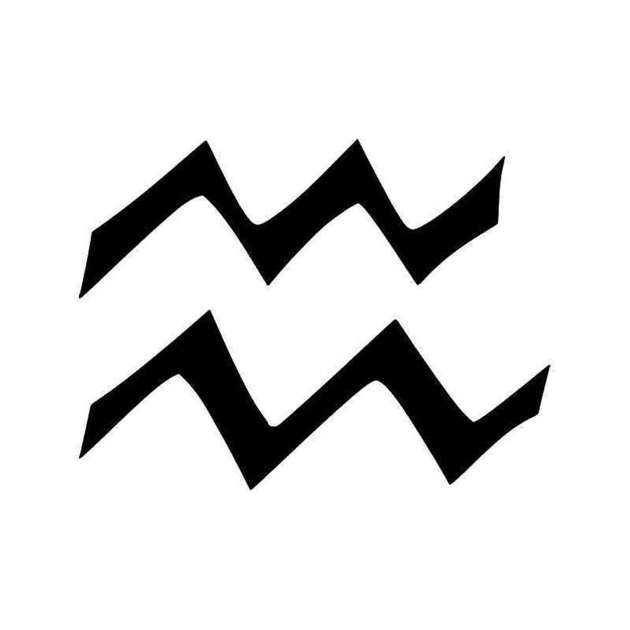 Aquarius Horoscope Symbol Vinyl Sticker