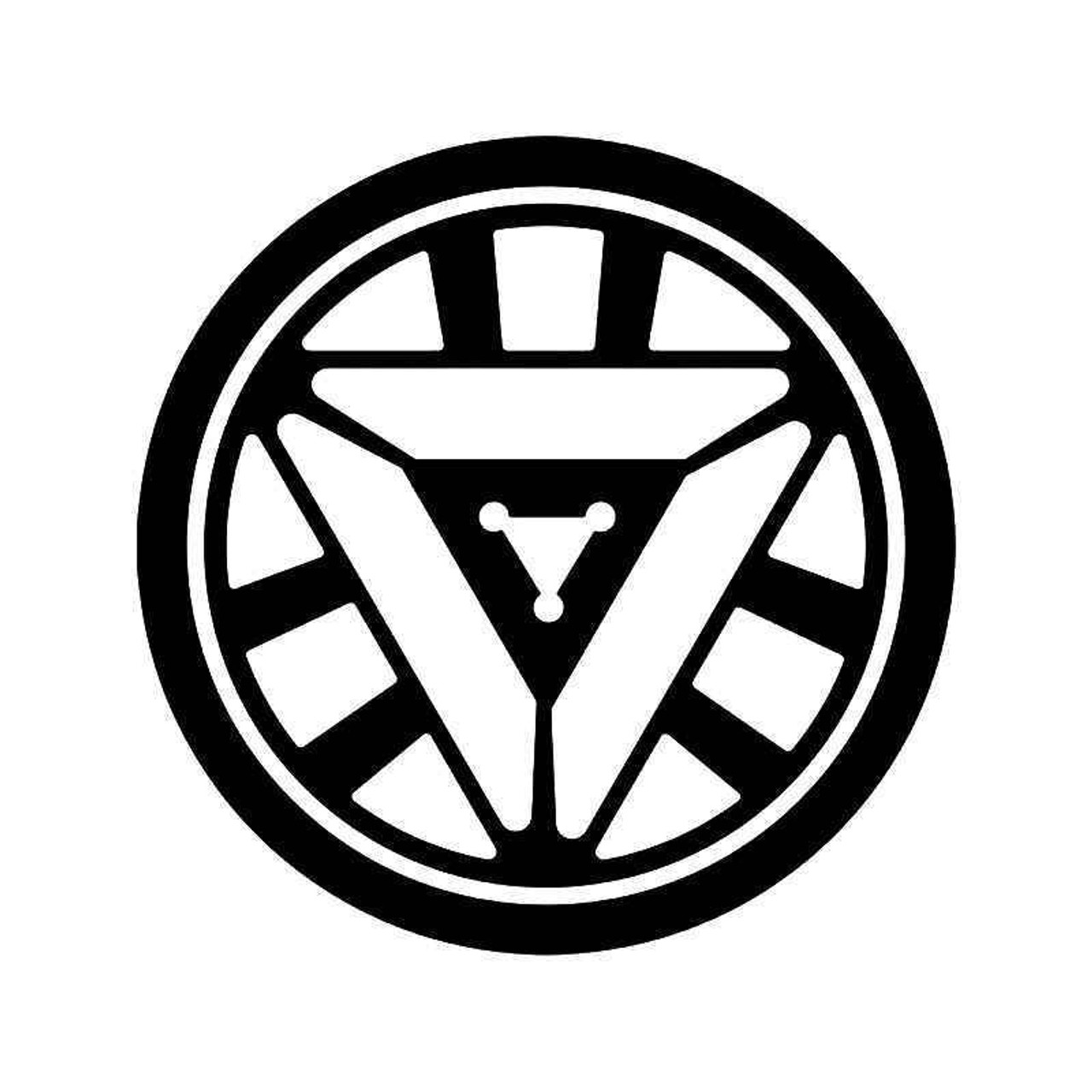 Arc reactor iron man vinyl sticker