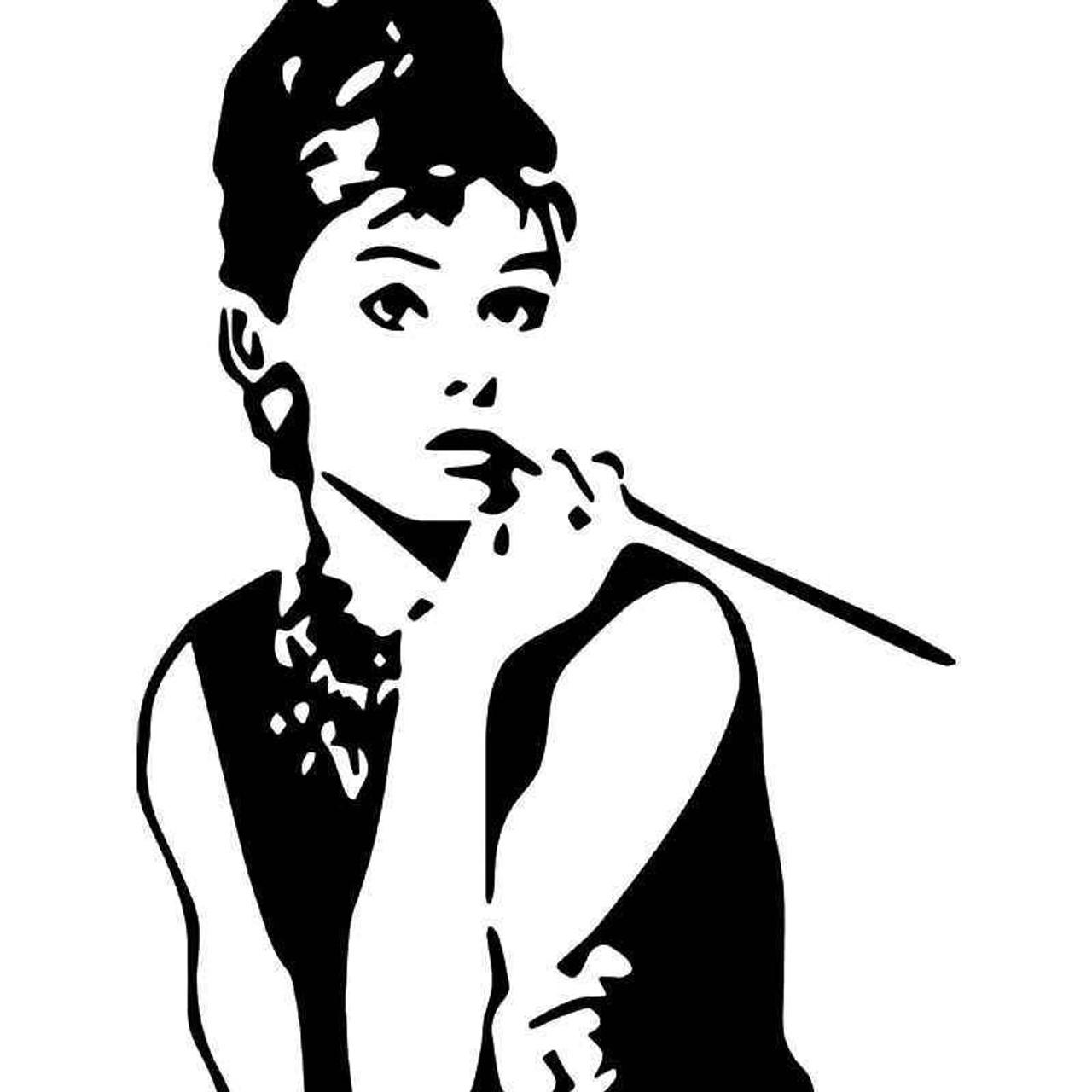 Audrey Hepburn Vinyl Sticker