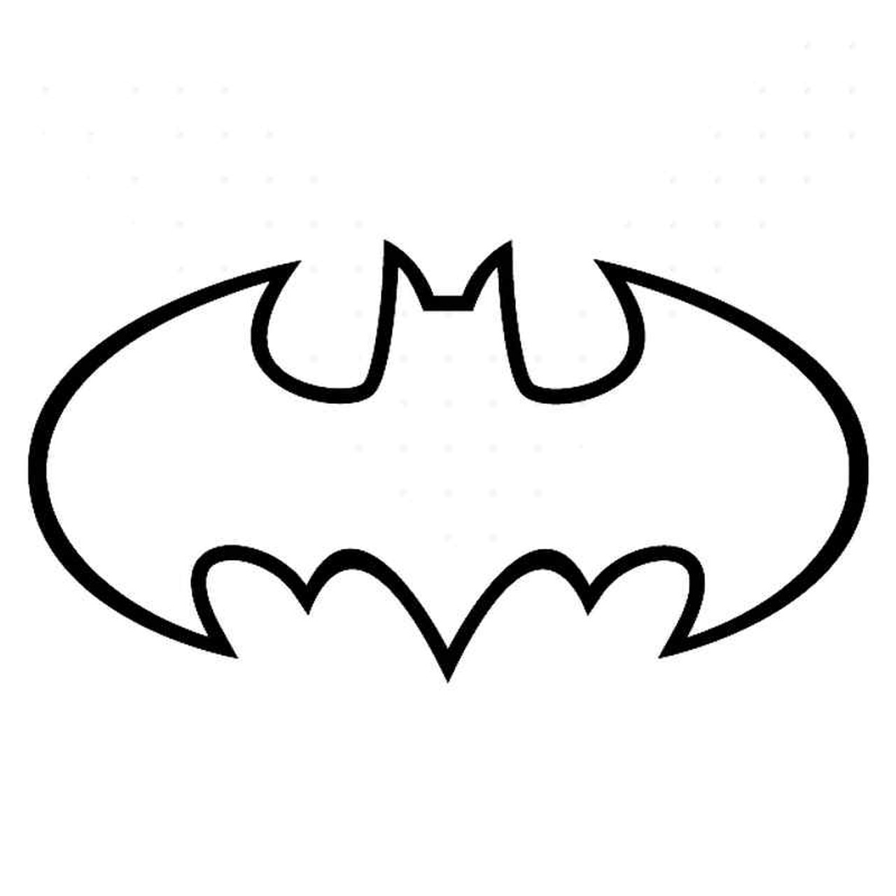 Batman 1989 Movie Symbol Outline Vinyl Sticker