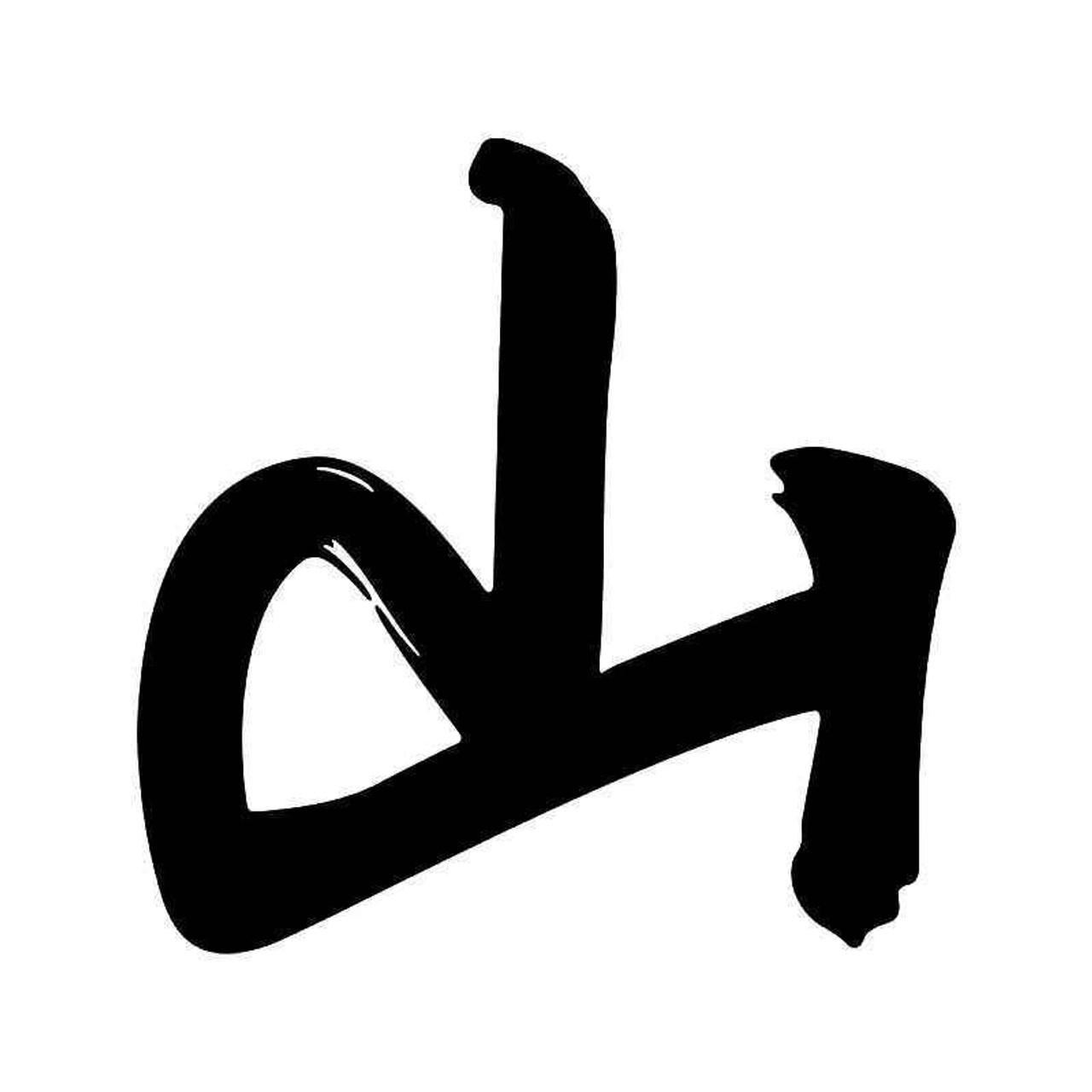 Chinese Character Mountain Vinyl Sticker