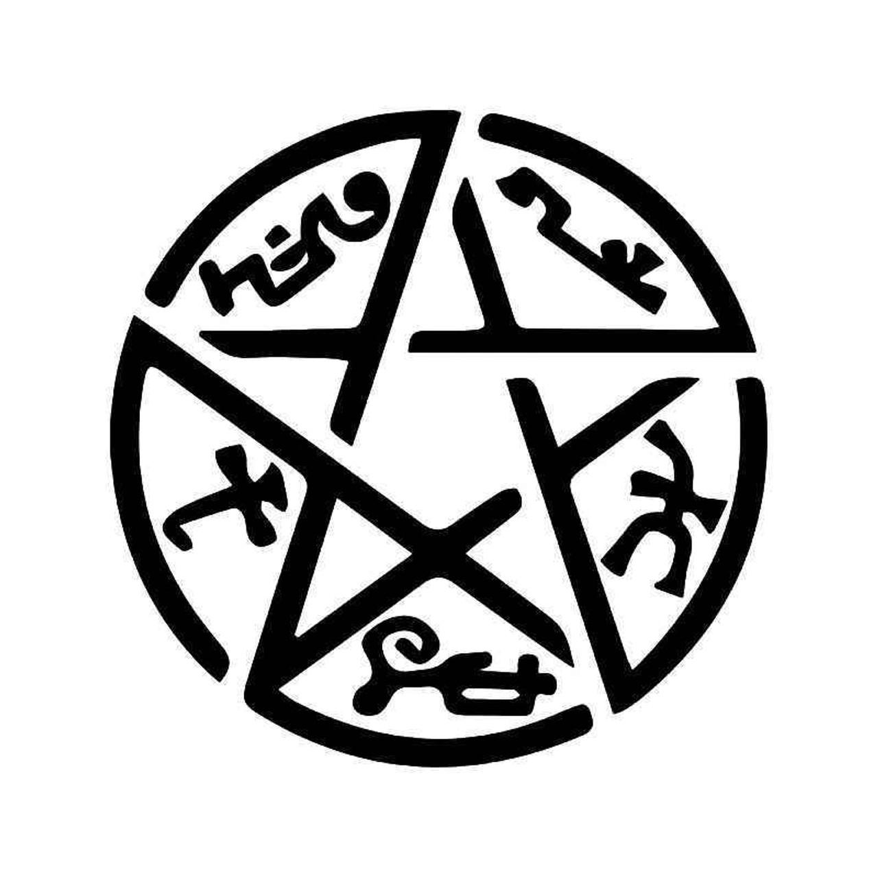 Demon Trap Supernatural Vinyl Sticker