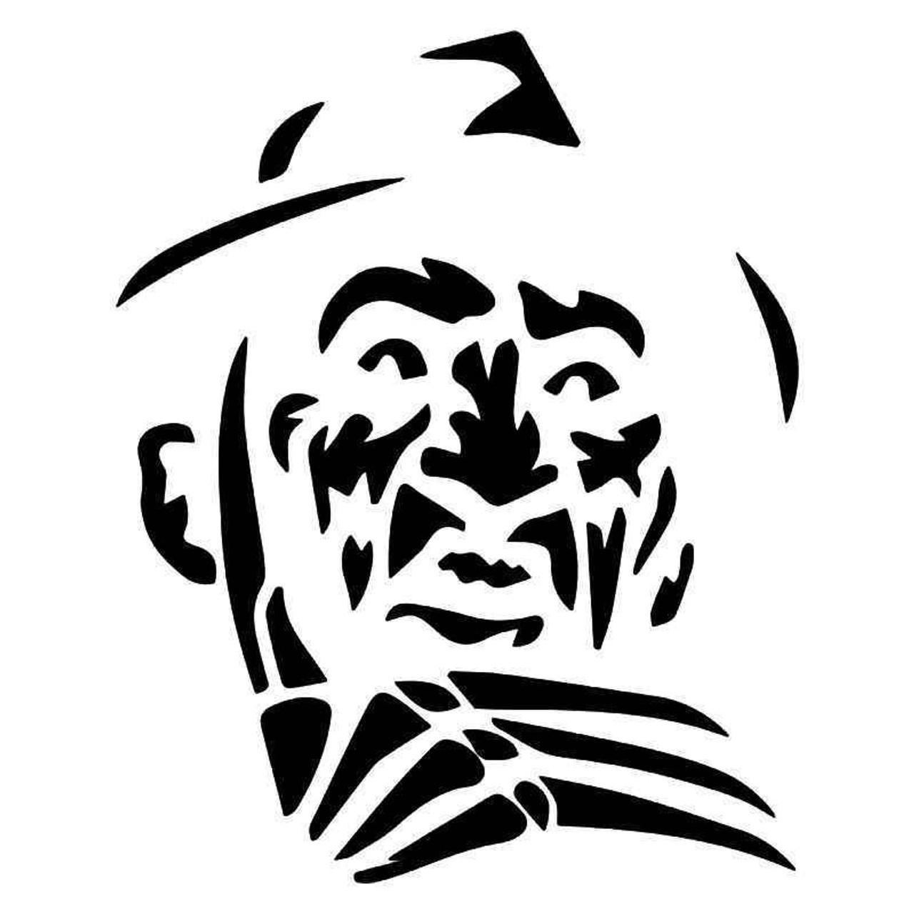 Freddy Krueger Face Nightmare Elm Street Vinyl Sticker