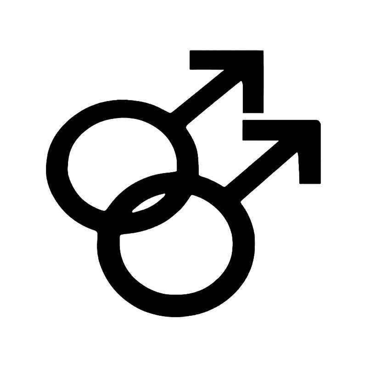 Gay Pride Male Symbol Vinyl Sticker