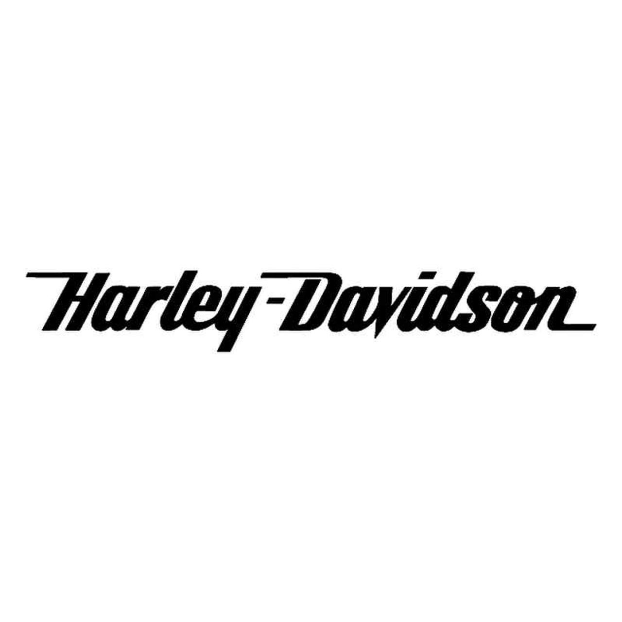 Harley davidson script text vinyl sticker