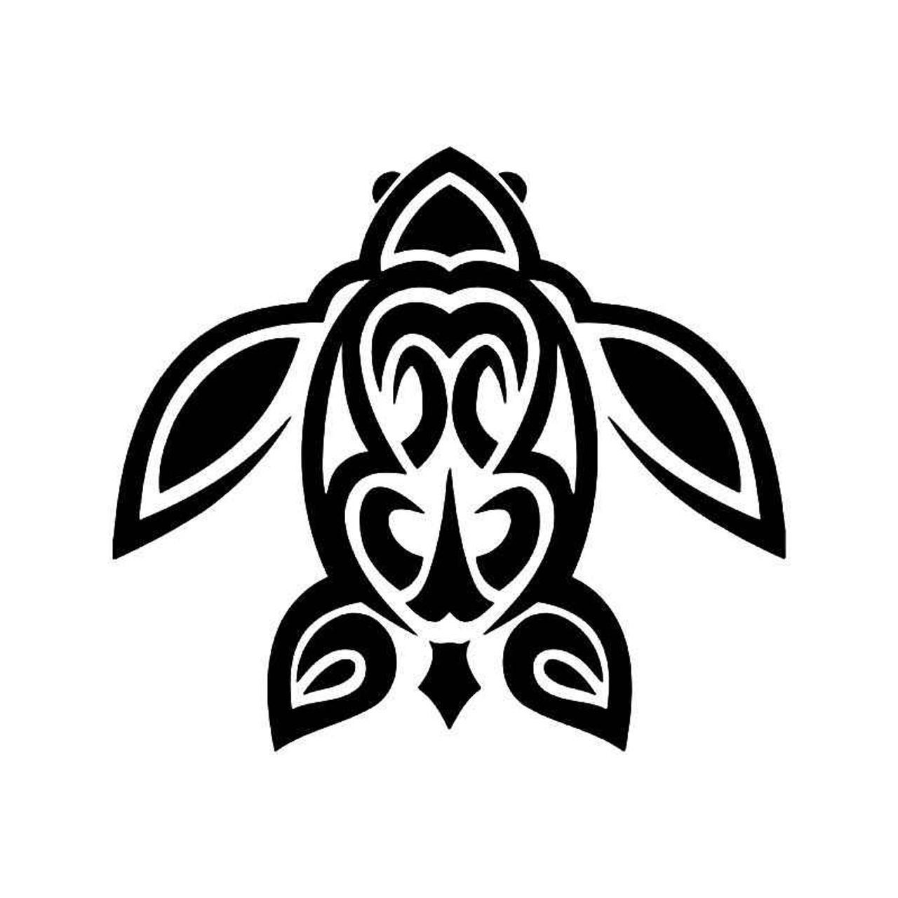 Hawaii Tribal Sea Turtle Peace 1 Vinyl Sticker