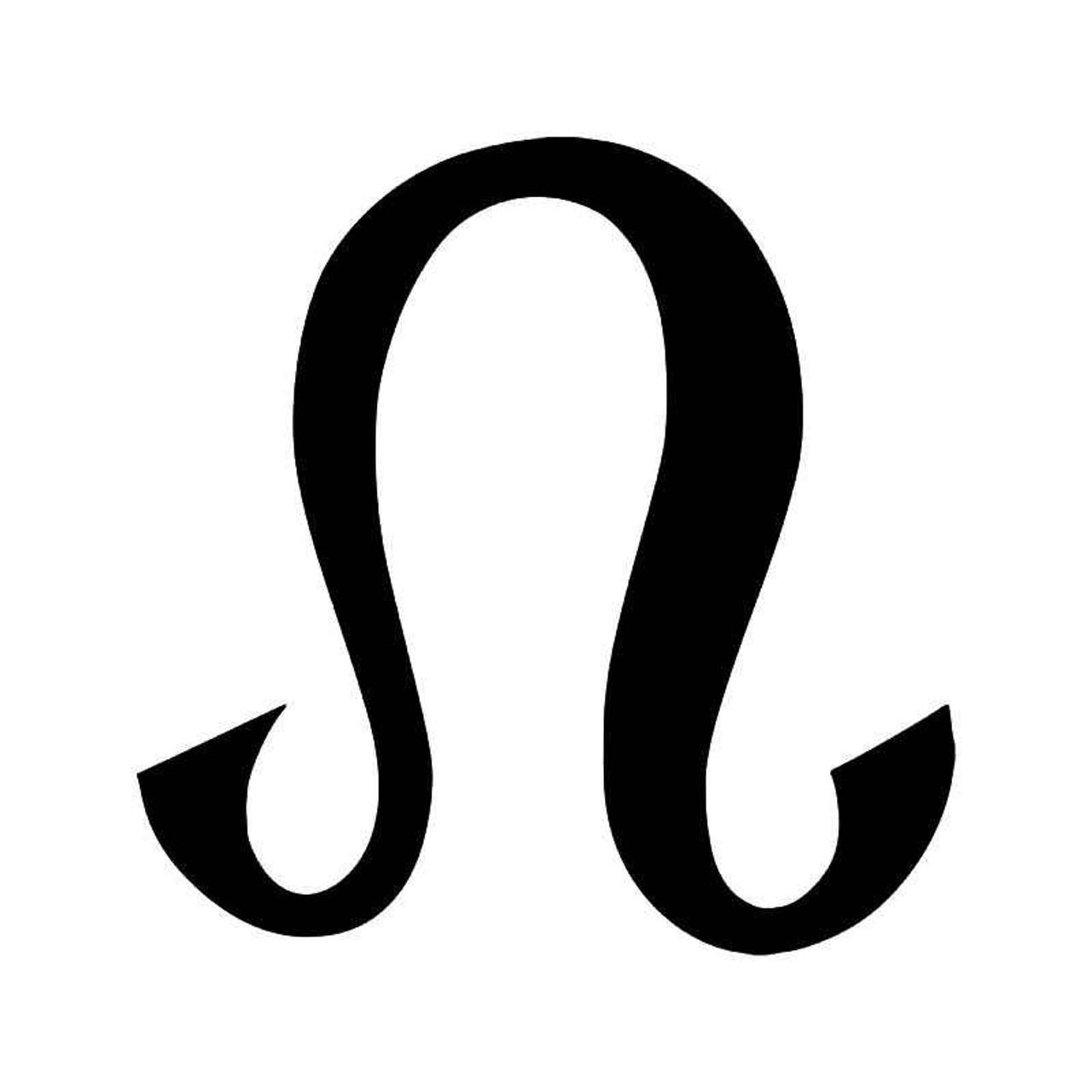 Horoscope Leo Symbol Vinyl Sticker