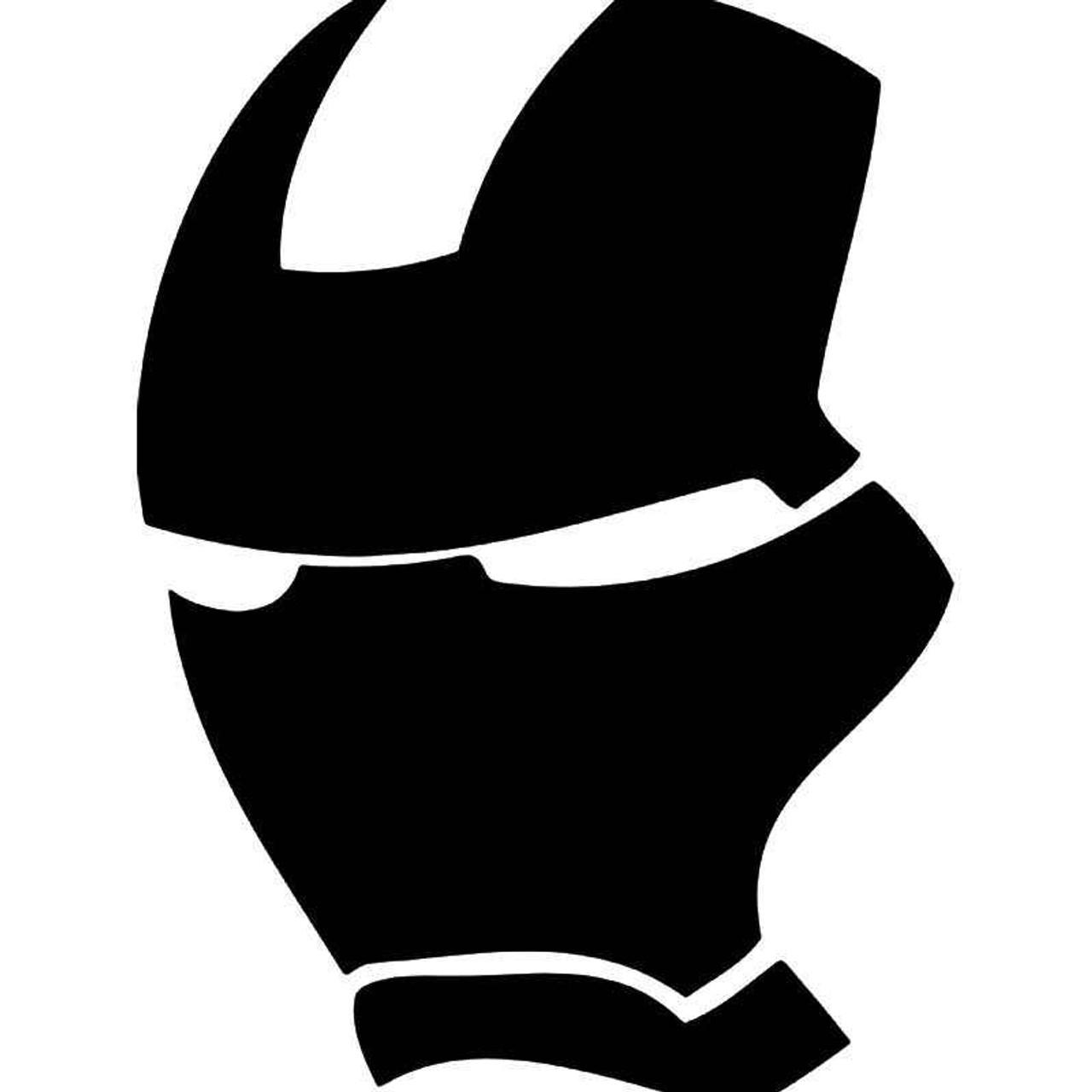 Ironman mask 1 vinyl sticker