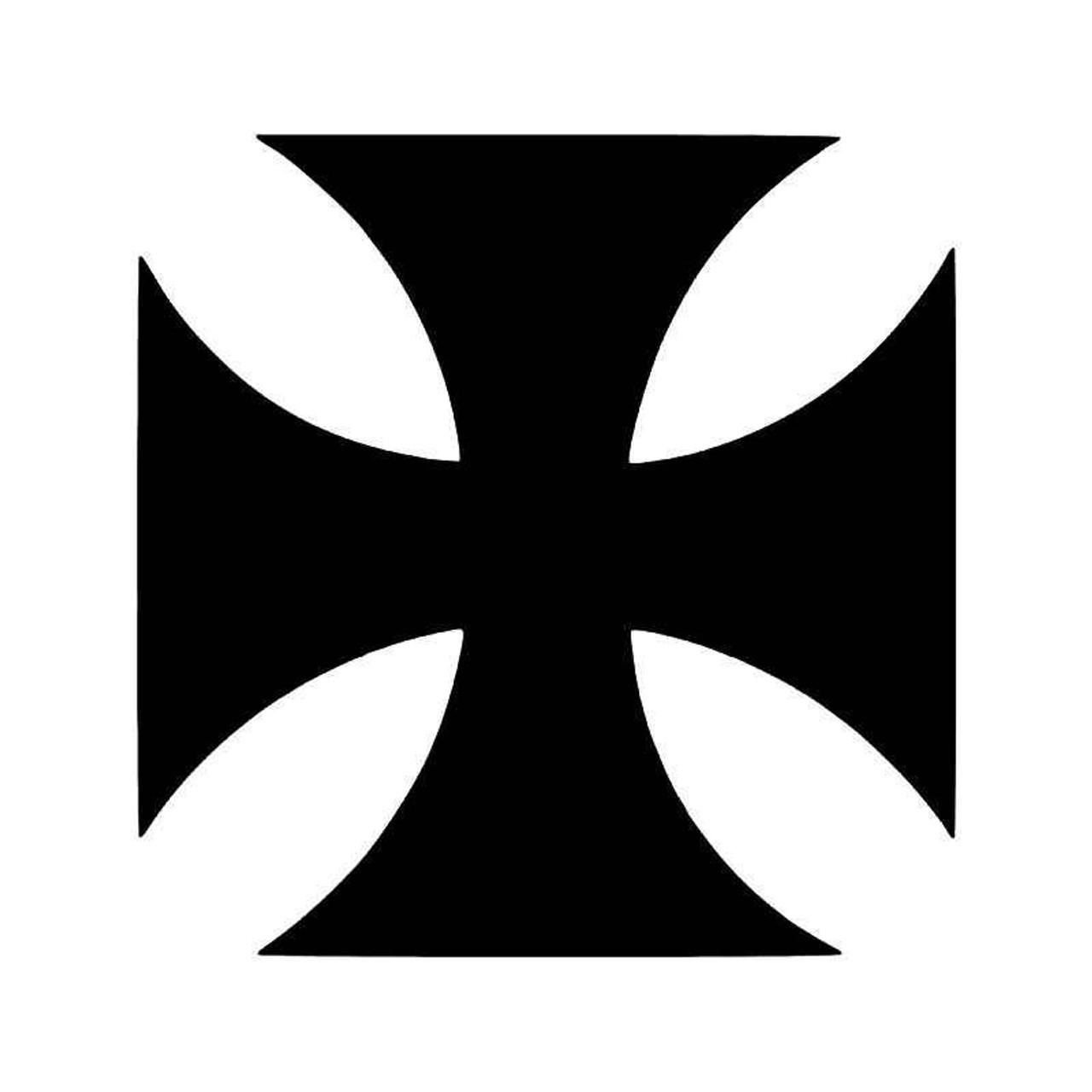 Maltese Iron Cross Knights Templar Symbol 2 Vinyl Sticker