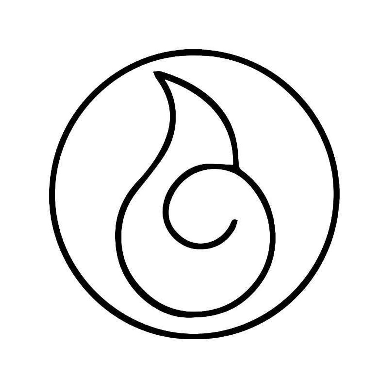 hyuga clan vinyl sticker