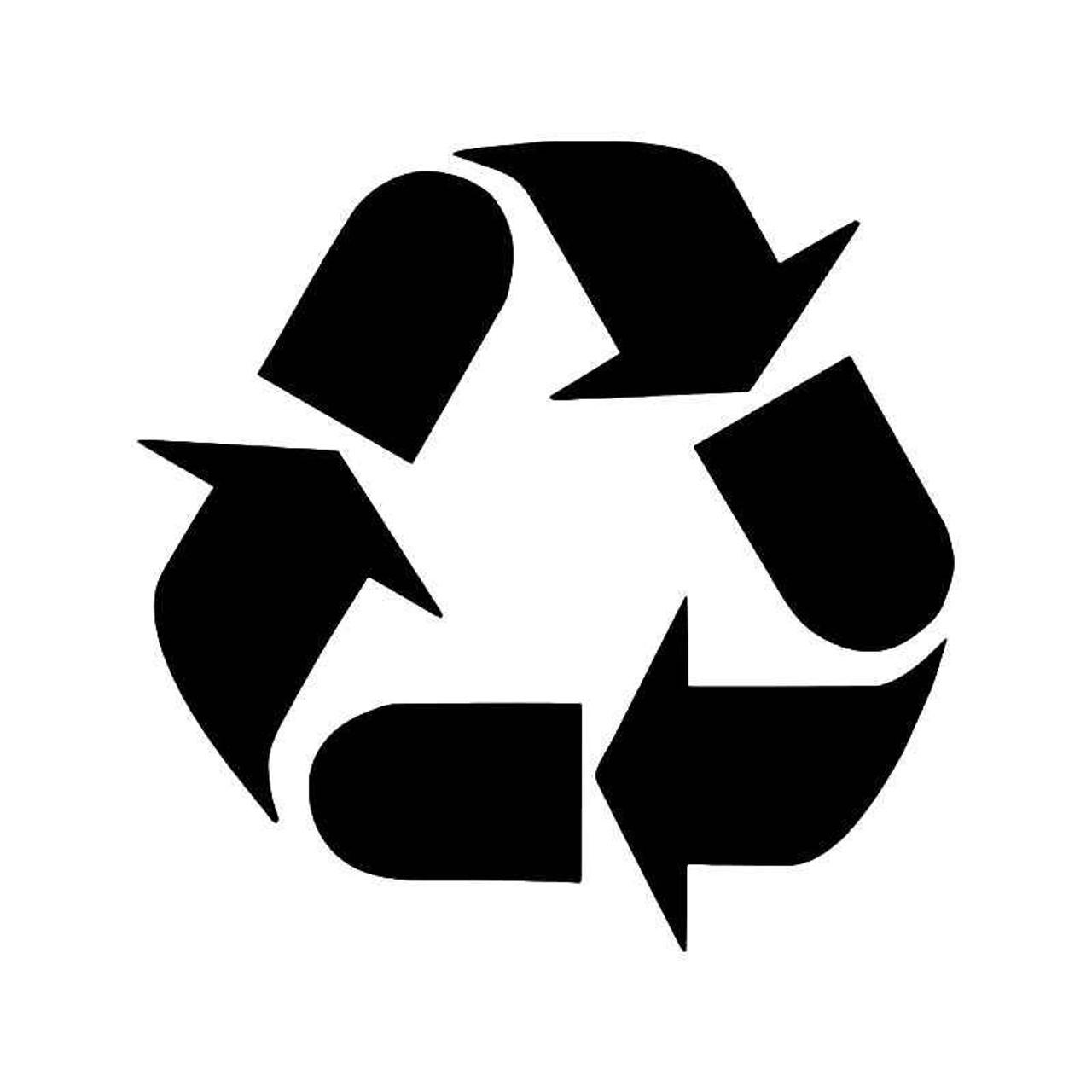 Recycle Trash Symbol 1 Vinyl Sticker