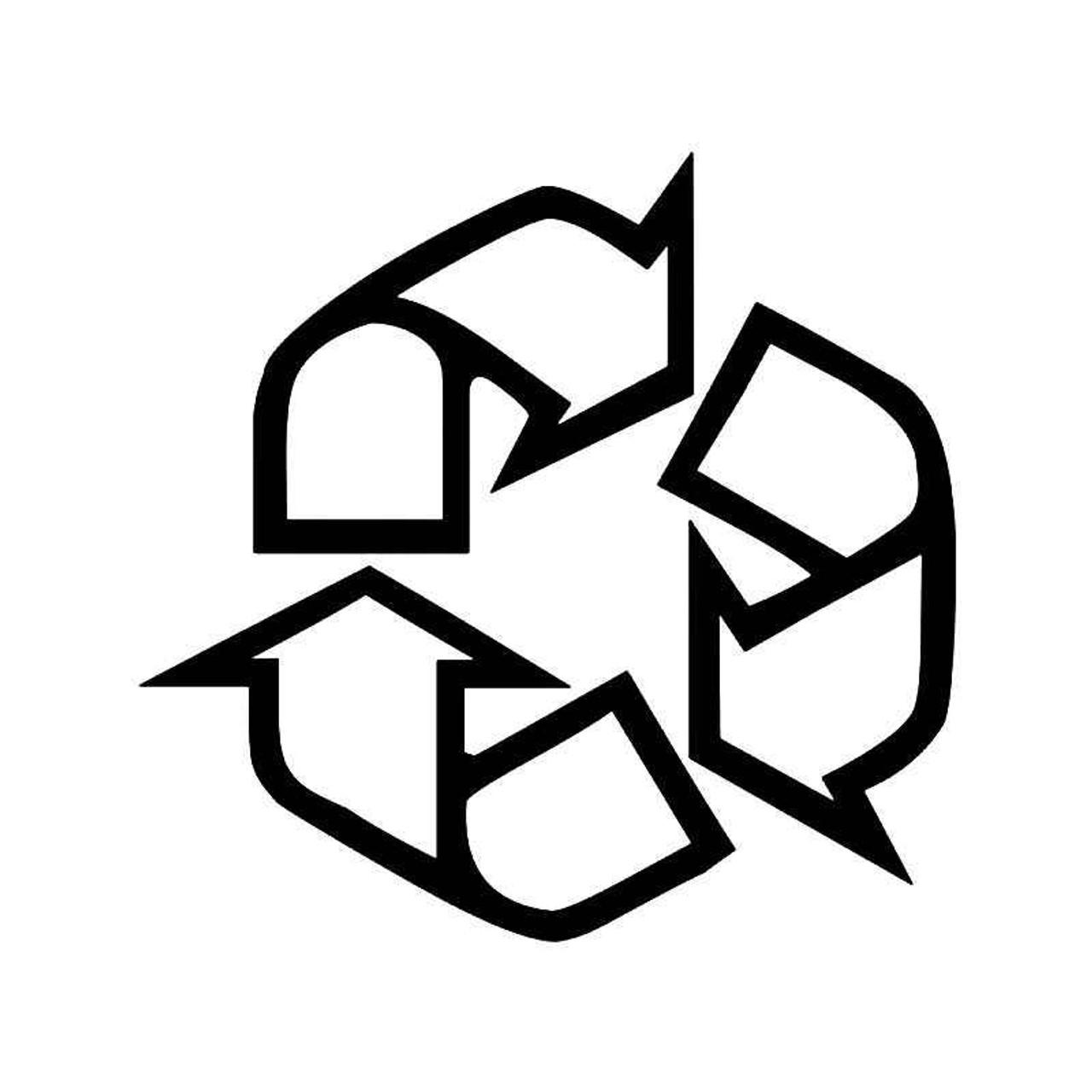 Recycle Trash Symbol 5 Vinyl Sticker