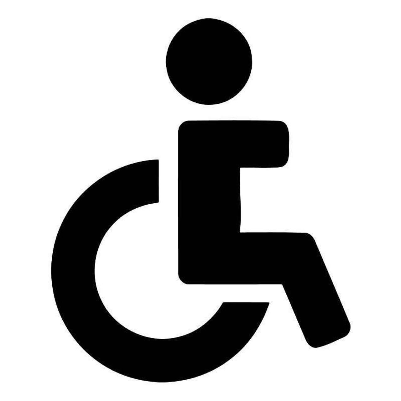 restroom handicap symbol vinyl sticker rh blipfuzz com Handicap Symbol Handicap Logo Clip Art