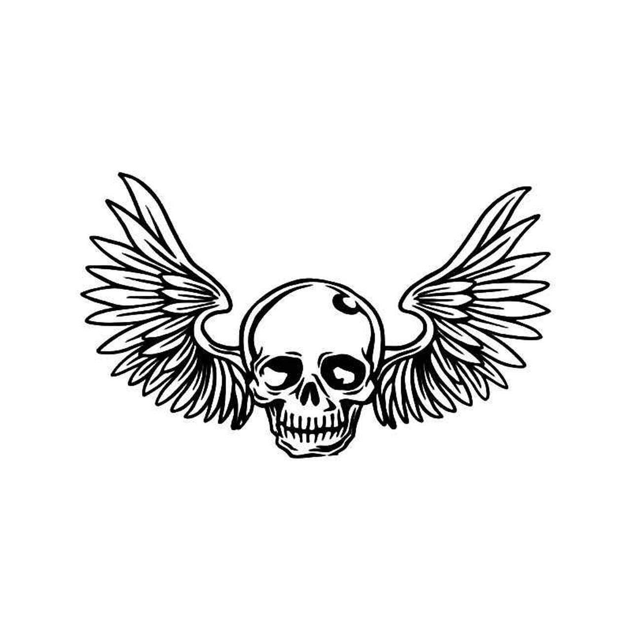 Skull Wings Vinyl Sticker