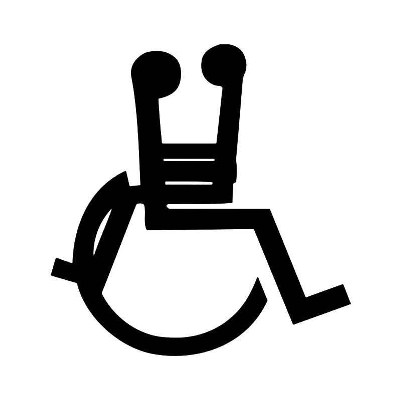 Wheelchair Handicap Sex Funny Vinyl Sticker