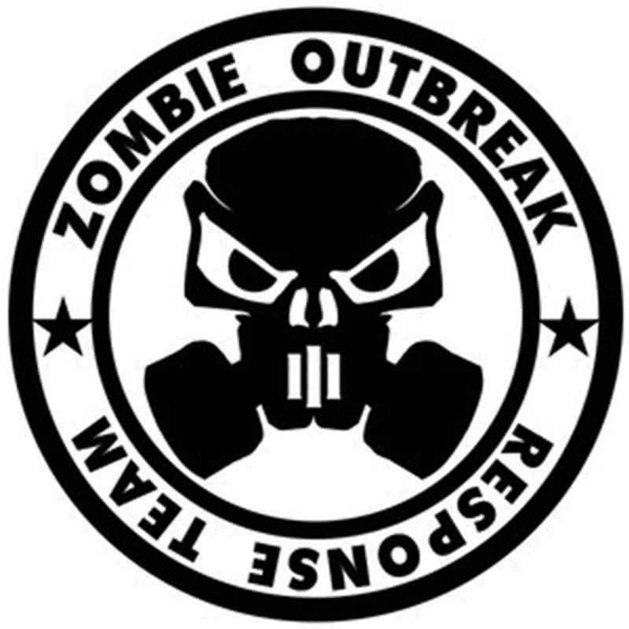 zombie outbreak 1053 vinyl sticker Zombie Radiation