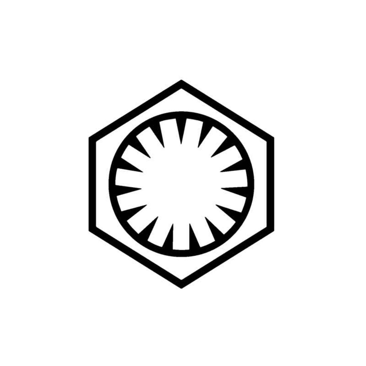 Star Wars Force Awakens First Order Logo Decal