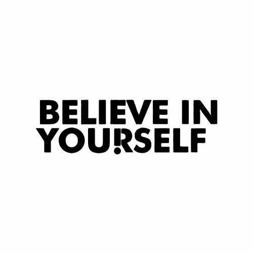 Saying believe in yourself decal believe in yourself vinyl decal sticker size option will determine the size from the longest side solutioingenieria Image collections