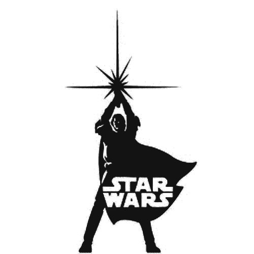 Star Wars Classic Jedi Standing Vinyl Decal Sticker