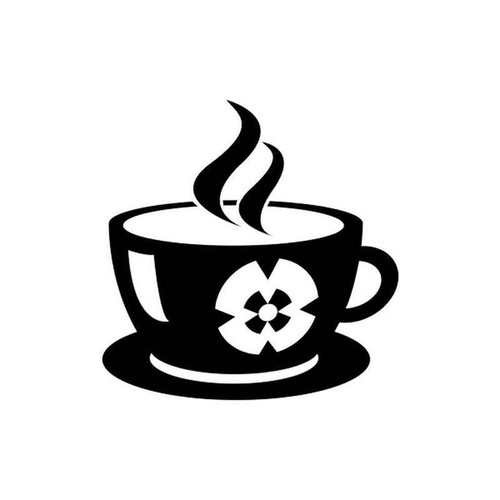 Coffee cup 1733 vinyl sticker