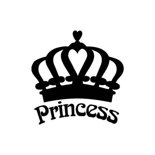 princess crown 68 vinyl sticker