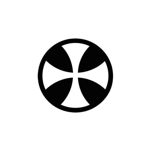 Maltese Cross Symbolic Style 1 Vinyl Sticker