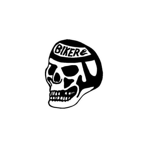 Biker skull 2 vinyl sticker