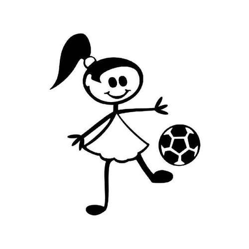 girl stick figure 6 vinyl sticker