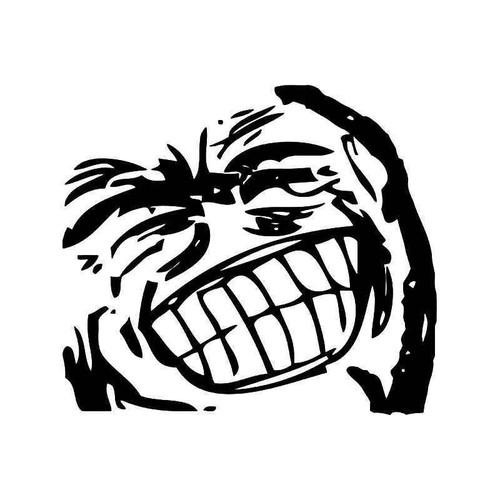 grin face internet meme vinyl sticker