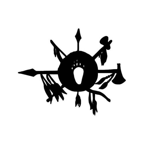 Indian Warrior Weapons Vinyl Sticker