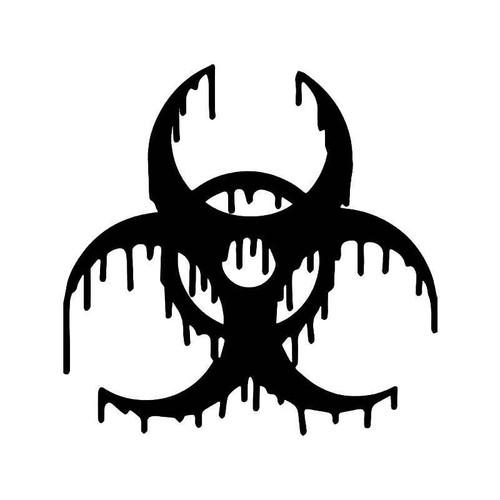 Melting Biohazard Symbol Vinyl Sticker