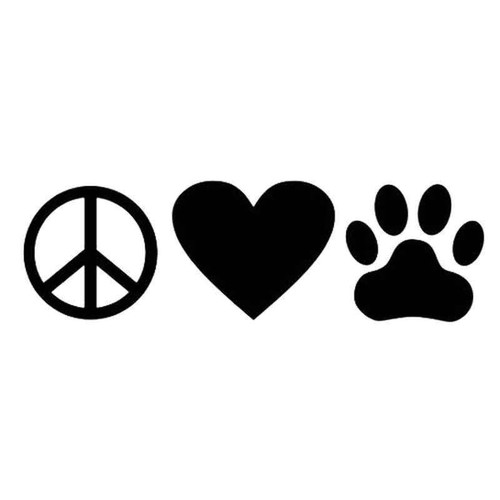 Peace Love Pet 523 Vinyl Sticker