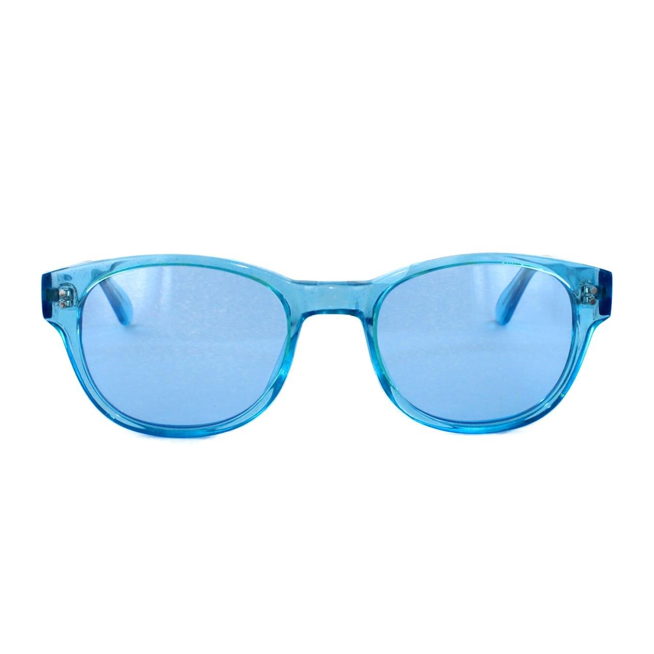 Crystal Blue with Blue Sunglass CR-39 Lenses