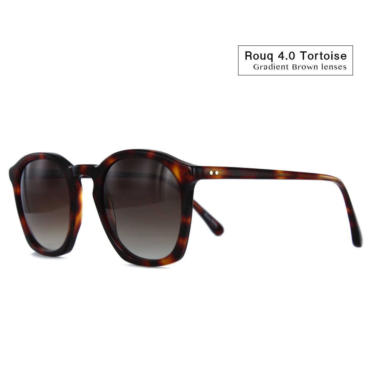 Rouq 4.0 Tortoise with Gradient Brown Lenses