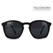 Rouq 4.0 Black Matt with Solid Grey Lenses