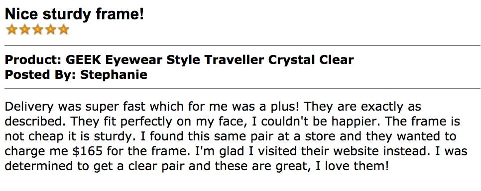 Geek Eyewear Style Traveller